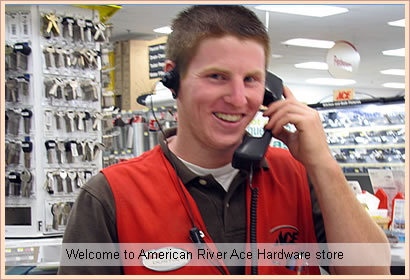 American River Ace Hardware, Folsom is conveniently located in the  American River Shopping Center near the intersection with Madison Ave